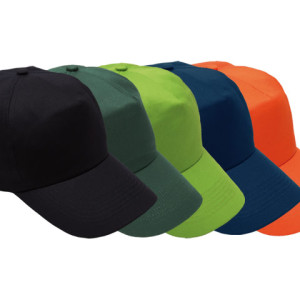 5 Panel Cotton Cap With Hard Front - PDC/C/HJ5-X5N4L - Image 2