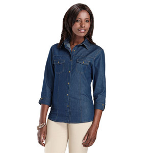 Ladies Denver Denim Blouse - PDC/C/ZB0-0DOB1 - Image 1