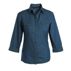 Ladies Denver Denim Blouse - PDC/C/ZB0-0DOB1 - Image 2
