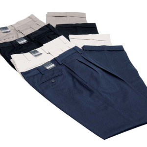 100% Cotton 2 Pleat Chino - PDC/C/PXK-A73EM - Image 2