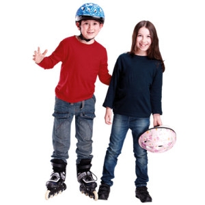 145g Kiddies Long Sleeve T-shirt - PDC/C/PC8-SH4IX - Image 1