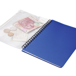 A5 Spiral Notebook With Zip Pouch - 70 Pages - PDC/G/BWN-SD66D - Image 1