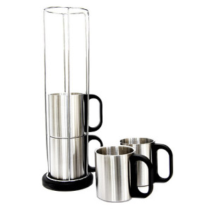 4 Cup Stainless Steel Stacker - PDC/G/LUA-VYEU1 - Image 1