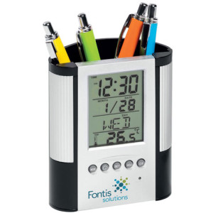 Chronology Clock And Pen Holder - PDC/G/NV7-I2DUR - Image 1