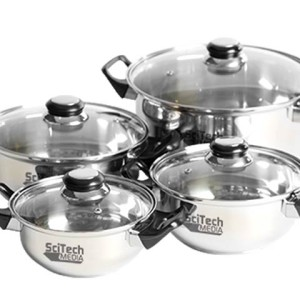 4 Piece Stainless Steel Cooking Set - PDC/G/V9N-LQ8M0 - Image 1