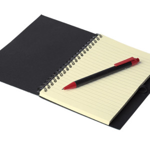 Coloured Stripe Notebook With Pen - PDC/G/AZT-LGXY0 - Image 1