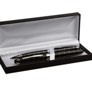 Striped Ballpoint And Rollerball Pen Set - PDC/G/FWQ-U67VV - Image 2