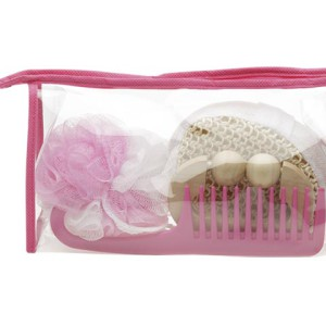 4 Piece Bath Set in PVC Bag - PDC/G/2UV-S23K7 - Image 1