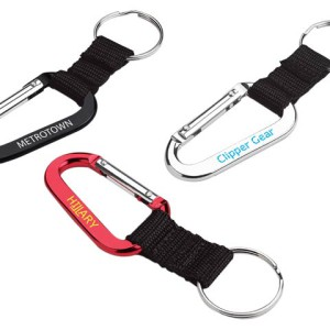 70mm Carabiner With Web Strap And Split Ring - PDC/G/0XN-8LQ29 - Image 2