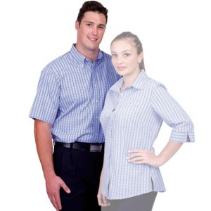 Cotton Rich Yarn Dyed Check Mens Shirt - PDC/C/NGZ-8NAAL - Image 1