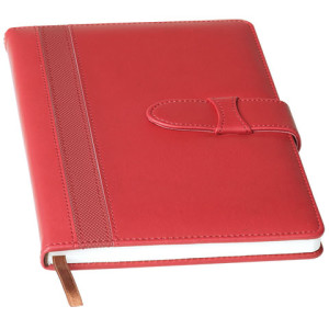 A5 Contrast Stripe Notebook with Tuck Flap - PDC/G/TW8-4OMGS - Image 1